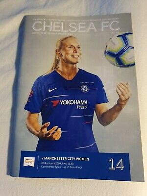 Chelsea Women V Manchester City Women Continental Cup SF 2018/2019 MINT