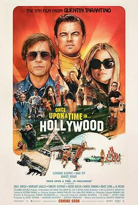 ONCE UPON A TIME IN HOLLYWOOD Quentin Tarantino Original 27x40 Movie Poster New