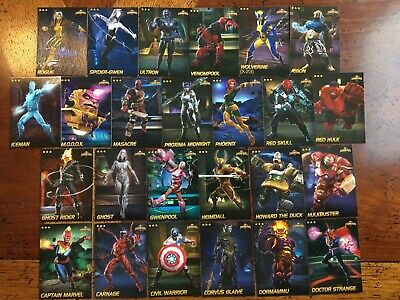 Marvel Contest Of Champions Cards Complete Rare Set All 25 Arcade Game