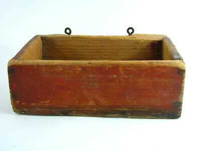 AAFA Painted Box  ANTIQUE AMERICAN FOLK ART Paint Wooden Wood Primitive Country