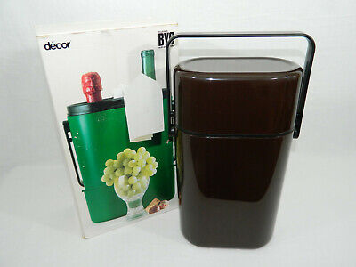 BRAND NEW in Box Vintage Decor BYO Insulated Wine Cooler Carrier MOMA