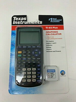 Texas Instruments Ti-83 Plus Graphing Calculator (Black) New In Box C4