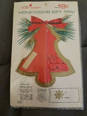 - 50's RUST CRAFT Christmas package topper vintage mid century bell design