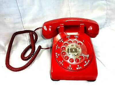 Vintage Bell System by Western Electric Wine color Rotary Dial Phone