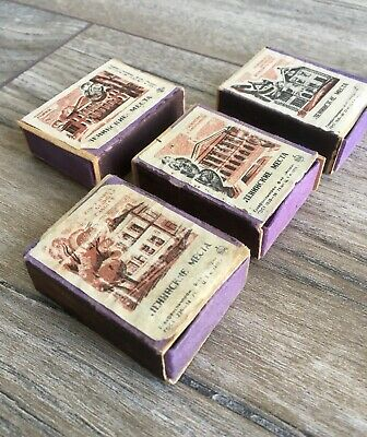 Vintage Matchboxes x 4  Soviet matches Places Of Lenin Labels 1970 Year Issue