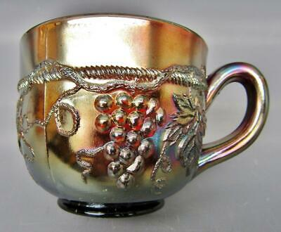 Northwood GRAPE & CABLE Amethyst Carnival Glass Punch Cup 7166