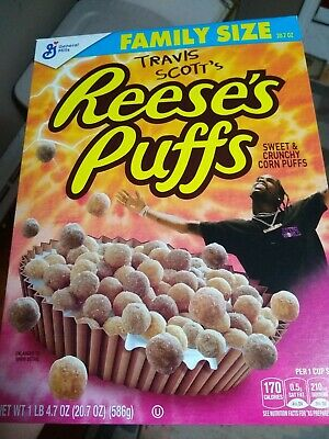 Travis Scott X Reeses Puffs Cereal Cactus Jack Sold Out Limited (FAMILY Size)