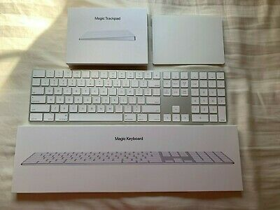Apple Numeric Magic Keyboard & Apple Magic Trackpad in Silver