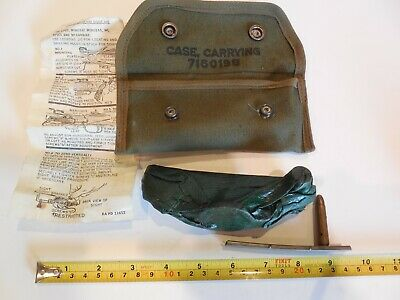 Vintage US Military WWII, M1 Carbine Grenade Launcher Sight, .30 cal Dummy, Clip