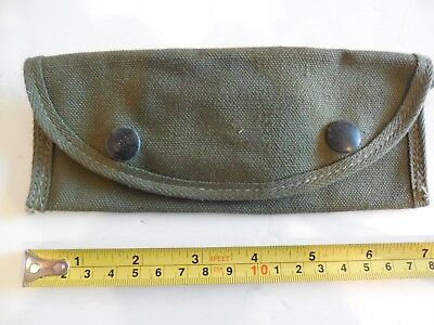 Vintage WWII US Military Canvas Case for Grenade Launcher Sight, Unissued