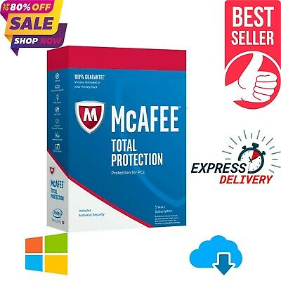 McAfee Antivirus Total Protection 2019, 5 Years License Key, 2020 Ready