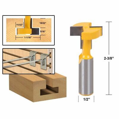 1/2 inch Shank Router Bit T-Slot & T-Track Slotting Tenon Cutter Tool F3H2