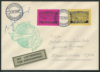 Germany, 1933 Rocket Mail Cover, Signed By Gerhard Zucker