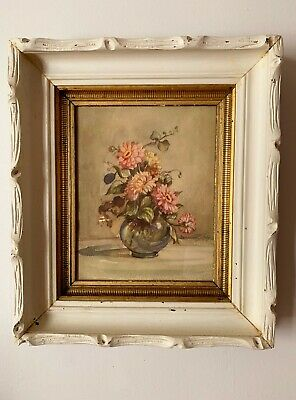 ANTIQUE DEEP WOOD PICTURE FRAME VICTORIAN SHABBY CHIC WHITE Countess Zichy Print