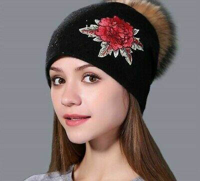 Wool Knitted Winter Warm Hats High Quality Fashionable Acrylic Casual Head-Wears