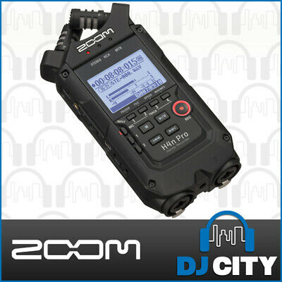 Zoom H4n PRO Portable Handheld Field Recorder w/ 2 Mics + 2 Inputs Black Edition