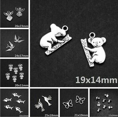 Lots Tibetan silver Charms Loose Spacer Beads Pendants Wholesale Jewelry Making