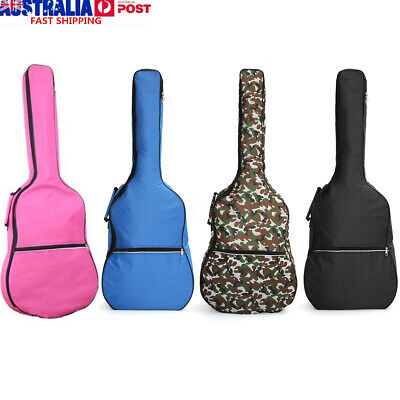 109cm Acoustic Guitar Double Straps Soft Carry Case Gig Bag Padded Backpack AU