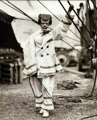 Scary Vintage Creepy Clown PHOTO Freak Strange Weird Halloween Bizzare Circus