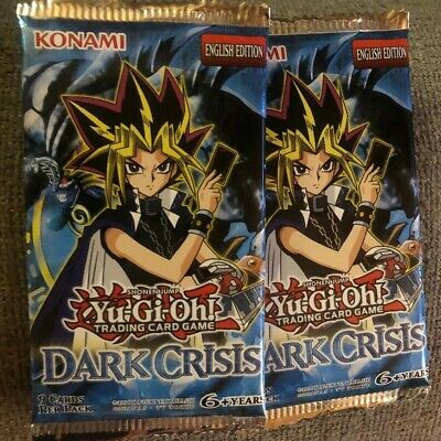 Yu-Gi-Oh Cards - Dark Crisis - Booster Packs (3 Pack Lot) - New Sealed