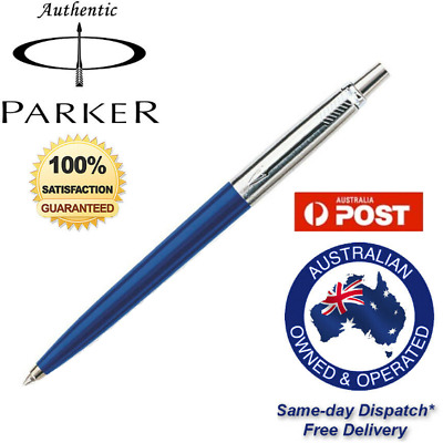 PARKER JOTTER STAINLESS STEEL CT Ballpoint BALL PEN Blue