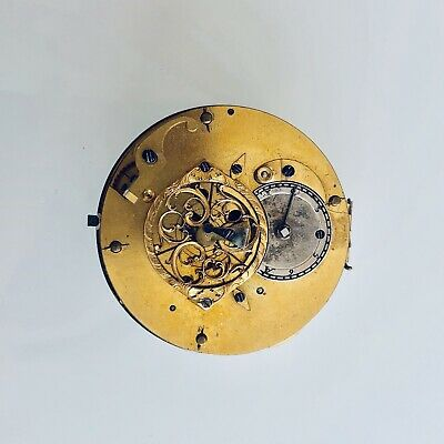 No Reserve Rare Large French Antique Verge Fusee 1780's Pocket Watch Movement