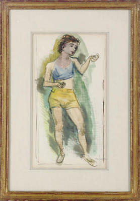 Moses Soyer  Study of a Female Subject with Christie's Auction House Provenance