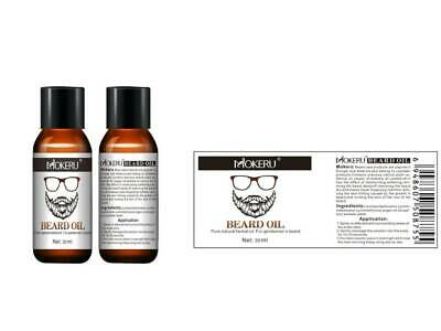 1 - 3 x 30ml 100% Natural Organic Beard Care Growth Oil Grooming Treatment