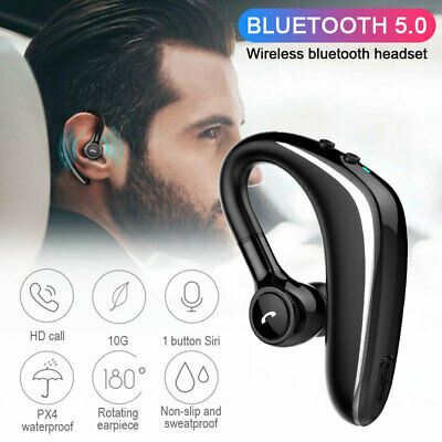Wireless Bluetooth Headset Handsfree Earpiece Noise Reduction Earbud With Mic