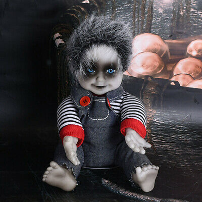 Haunted Creepy Gothic Electric Sitting Baby Doll Animated Halloween Scary Props