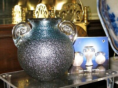 Australian Hand Crafted Studio Glass Signed Sean O' Donoghue  small vase