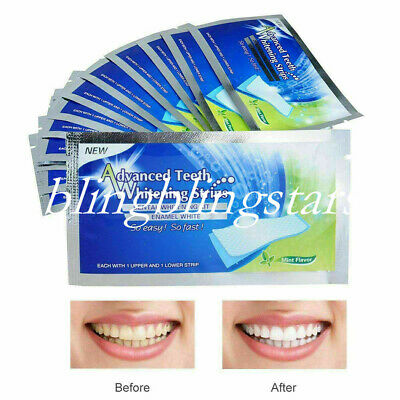 3 Sets Dental Teeth Whitening Strips Sticker Bleaching White Tooth Care 84 Pcs