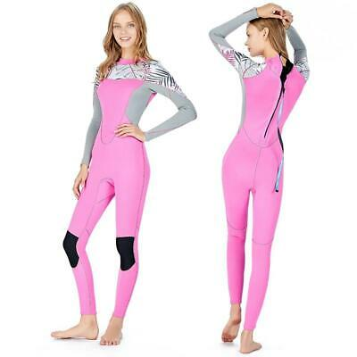Women's Long Sleeve Wetsuit Neoprene Elastic Swimming Surfing Diving Swimsuit.