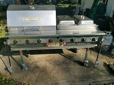 """60"""" MagiCater LP Gas Grill With Lid & Chafing Dish  Attachment"""