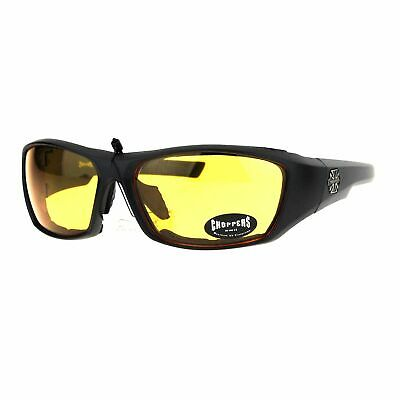 Choppers Bikers Mens Sunglasses Mirror Lens C46 Matte Black