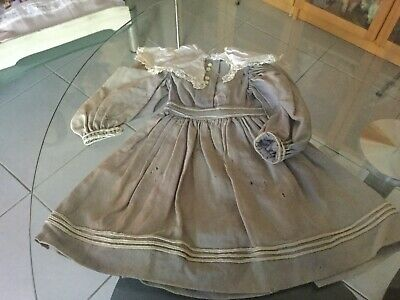 Antique  Light wool dress for your antique doll ca 1900s+ No 3