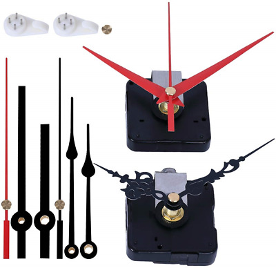 EMOON 2 Pack Wall Clock Movement Mechanism with 4 Pack Clock Hands, Silent Sweep
