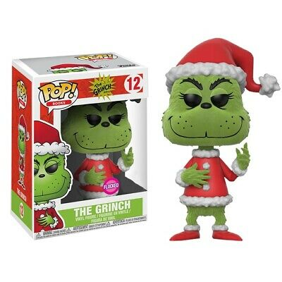 Dr Seuss Santa Grinch Flocked Exclusive Pop! Vinyl Figure #12