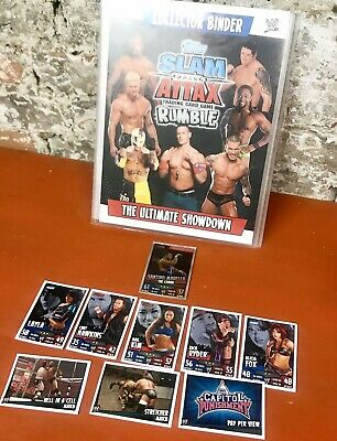TOPPS WWE Slam Attax Rumble Extra Binder + TCG Cards inc Holo