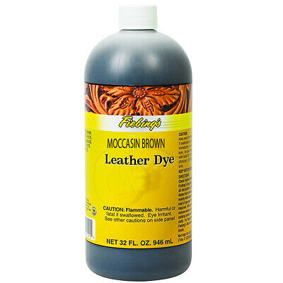 C-032Z Fiebing's Leather Dye Moccasin Brown 32 Ounce