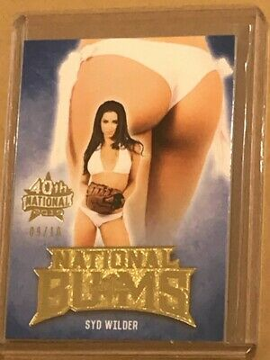 2019 Syd Wilder Benchwarmer 9/10 40Th National Gold Foil National Bums Card