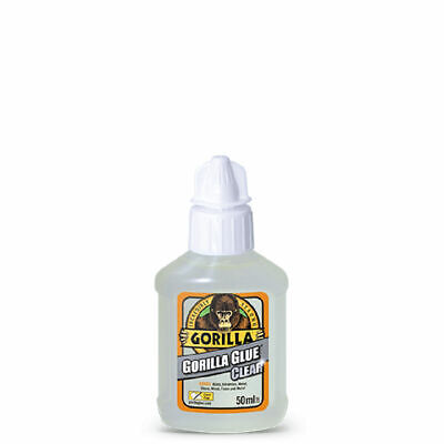 GORILLA GLUE 1244002 CLEAR GLUE FOR VIRTUALLY INVISIBLE FIXES 50ML BOTTLE x 1
