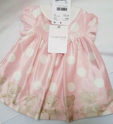 Mayoral Designer Baby Girl Dress with head band RRP £29.99 New Size 0-1 month