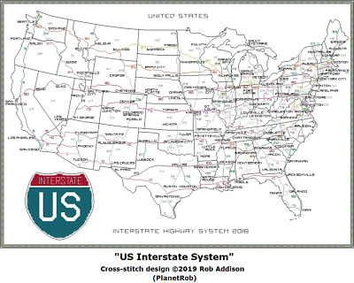 ORIGINAL USA Interstate ---- Highway Schild -- Road plate ...