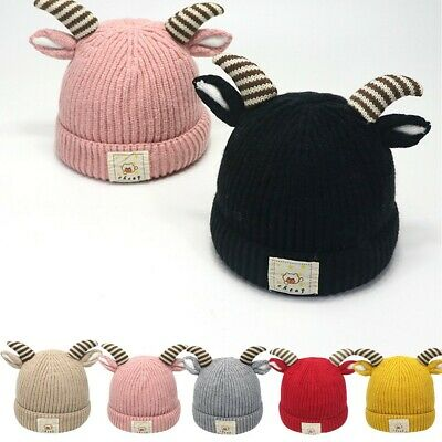 Infant Todler Baby Kid Boy Girl Pom Pom Hat Bobble Beanie Double Knitted Hat2-8Y