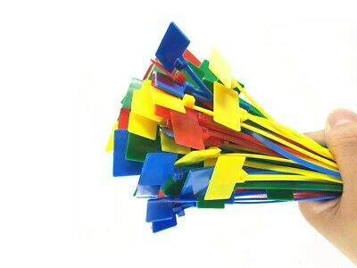 100pcs colored MARKER CABLE write on ZIP TIES Write On cable Label ID sign tie