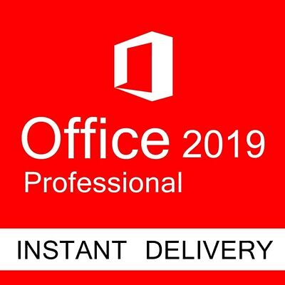 MICROSOFT OFFICE 2019 Professional PRO 32/64 BIT Download + Product code MS