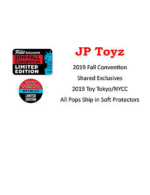 Funko Pop! 2019 NYCC/Fall Convention Exclusives In-Stock/Confirmed Orders