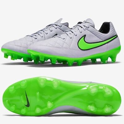 NIKE TIEMPO LEGEND V FG Mens Leather Football Boots Grey RRP