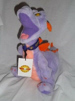 "DISNEY WORLD Epcot 17"" Plush FIGMENT Dragon Purple Large Stuffed w/ LANYARD Toy"